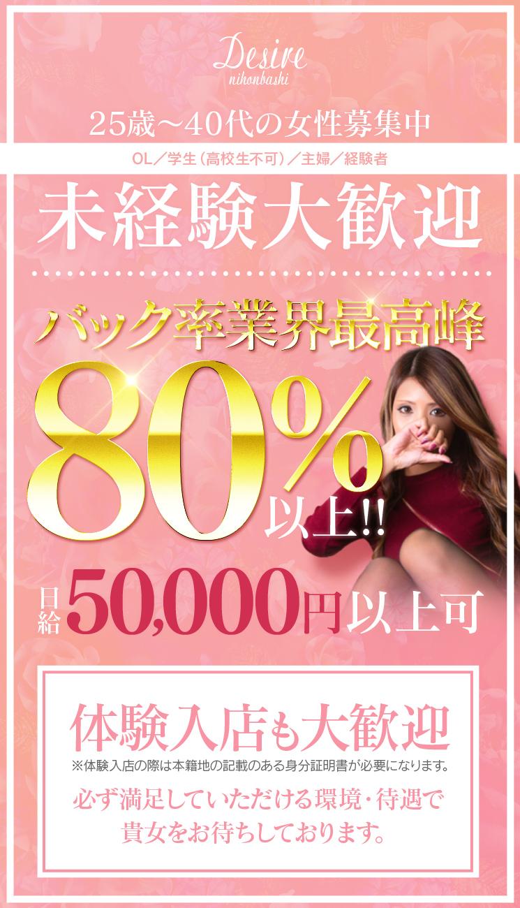 デザイア日本橋・女性キャスト50名急募します!